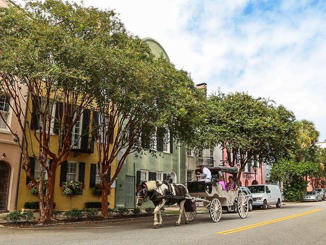 Straat in Charleston, South Carolina