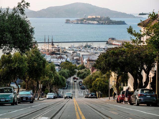 San Francisco road to Alcatraz