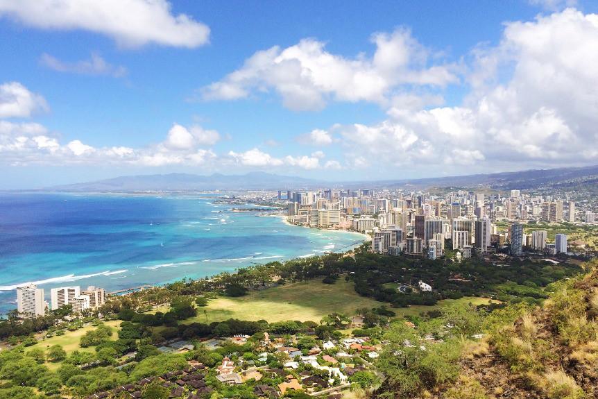 Afbeelding van A View Of Waikiki And Honolulu From The Diamond He JPNDEXJ