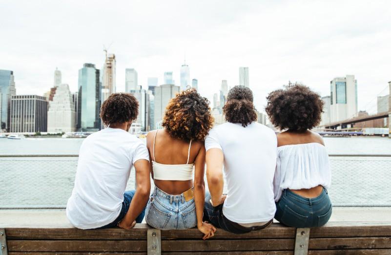 Afbeelding van Group Of Friends Spending Time Togeher In New York 7WLTJFJ