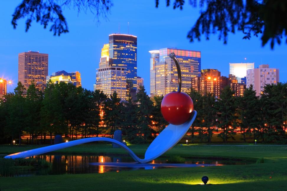 Afbeelding van Photos Minneapolis Mn Sculpture Garden Spoonbridge Cherry