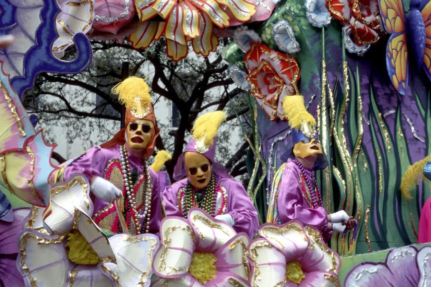 Afbeelding van Photos New Orleans La Mardi Gras Float Riders
