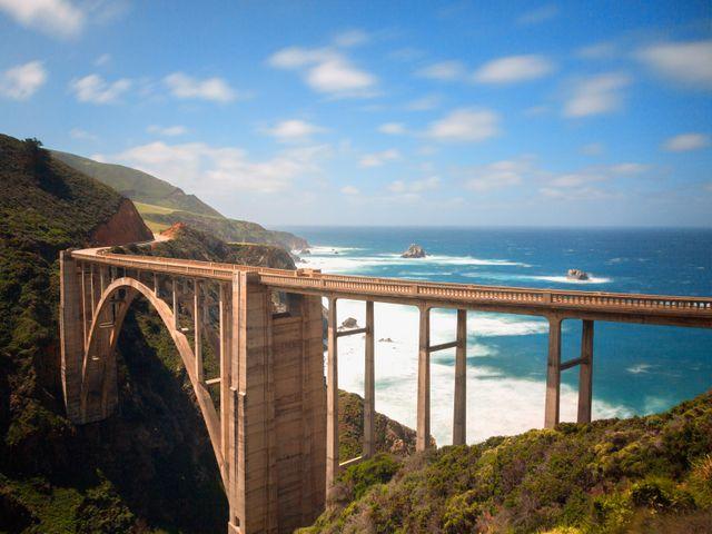 Brug Highway 1 in de buurt van Carmel , Big Sur, Californië