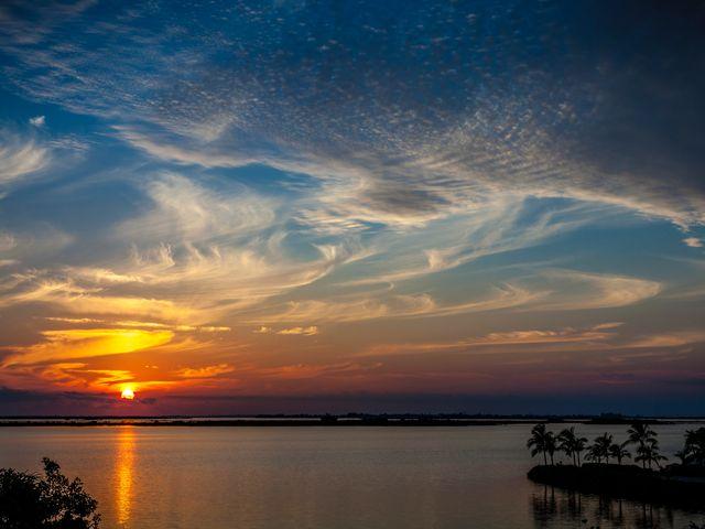 Zonsondergang Golf van Mexico