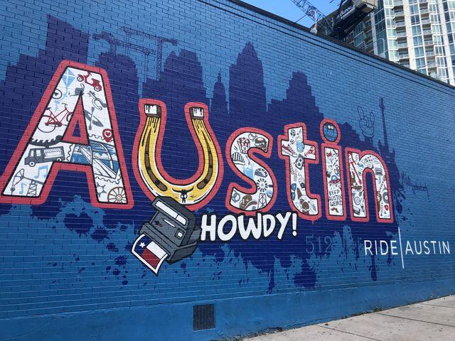 Austin graffiti Texas vakantie