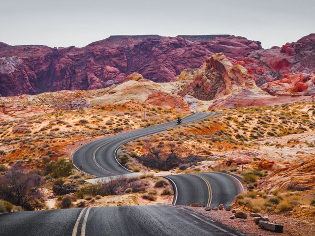 Valley of Fire State Park road in Nevada