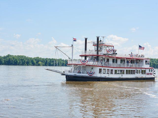 Radarboot op de Mississippi