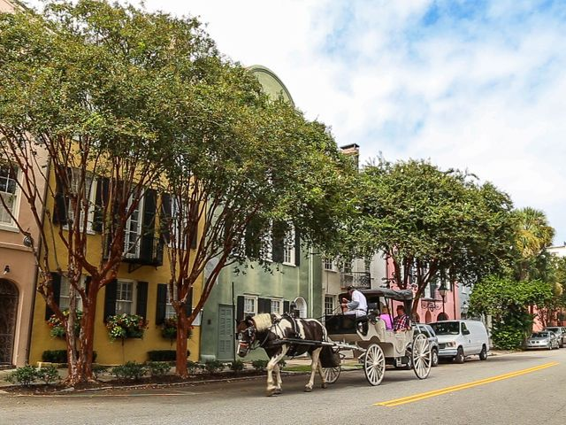 Straat in Charleston, South Carolina
