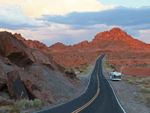 Camperreis Amerika door Nationaal park in Amerika