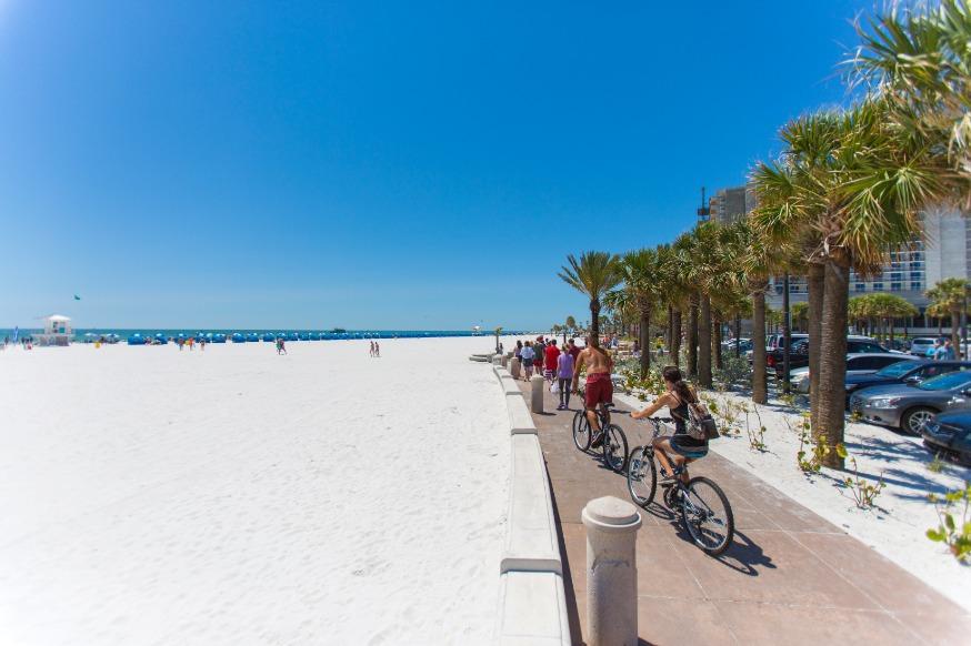 Bikes On The Beach Walk   Clearwater Beach