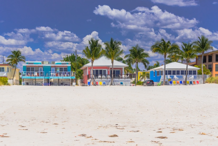 Fort Myers Beach Coloful Houses