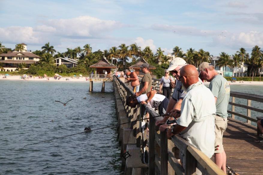 Fishermen on the pier Naples Florida
