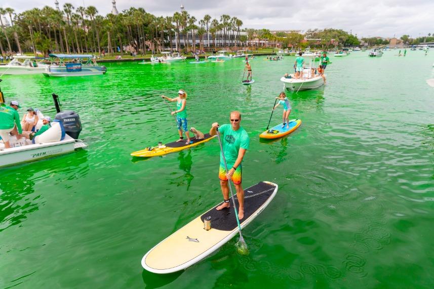 River O' Green at the Tampa Riverwalk