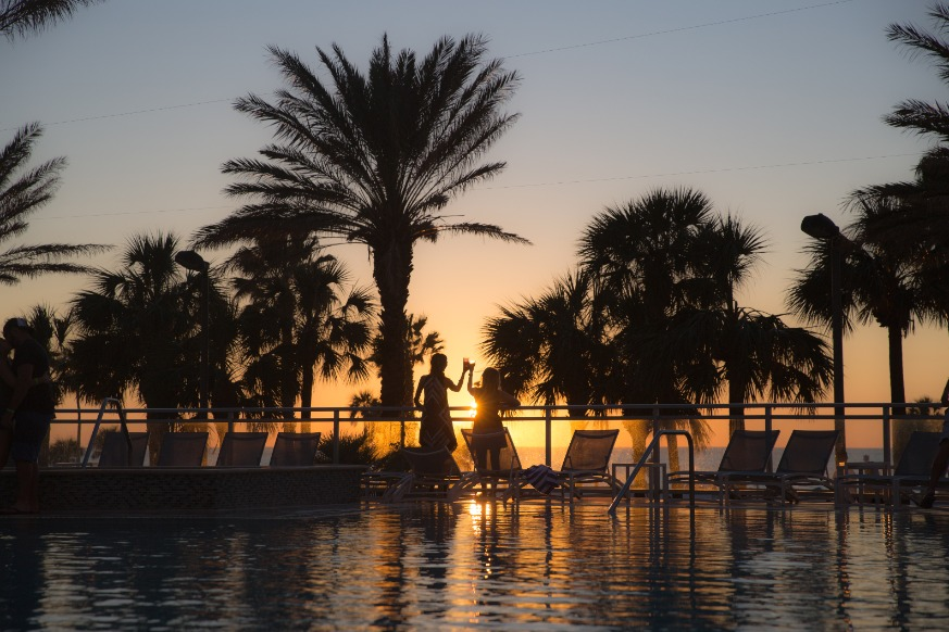 Poolside Sunset At The Wyndham Grand   Clearwater Beach