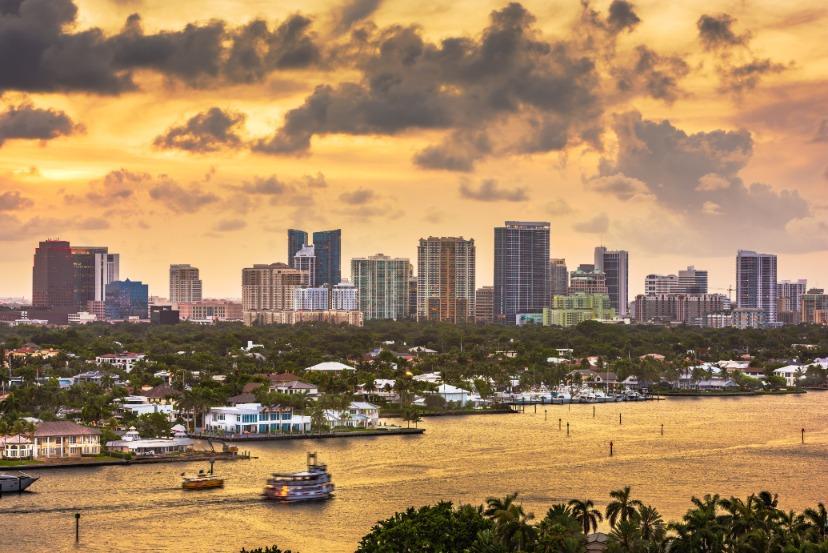 Fort Lauderdale Florida Usa Skyline