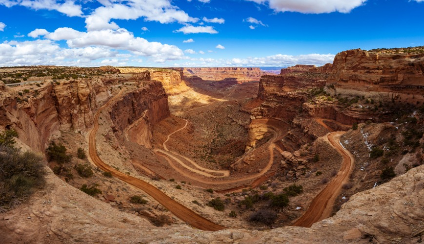Panorama Of Shafer Trail Canyonlands National Park