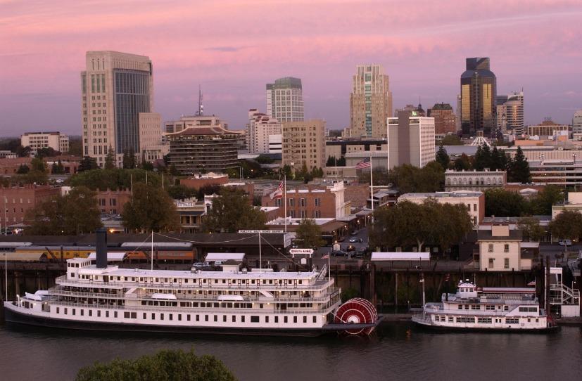 Sacramento Skyline Night