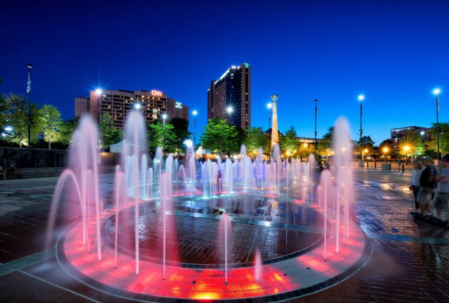 Atlanta Centennial Olympic Park Fountain Dusk