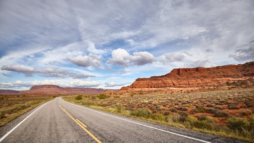 Scenic Road In Canyonlands National Park