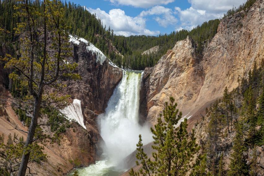 Yellowstone Falls In Yellowstone National Park